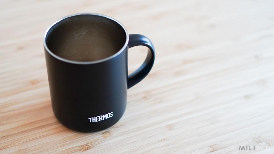 サーモスの真空断熱マグカップ