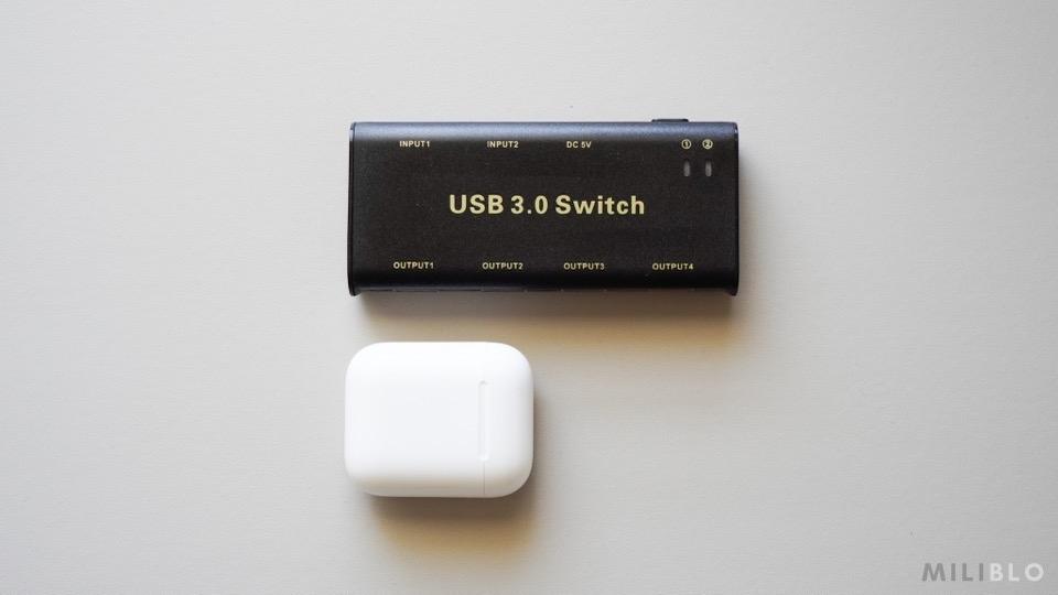 USB切替器「ABLEWE USB3.0」のサイズ