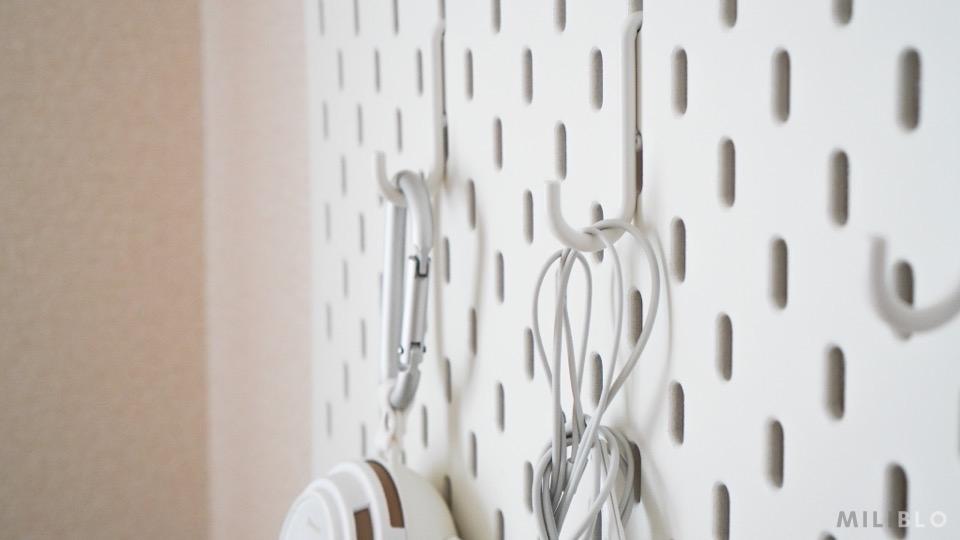 IKEAの有孔ボード|スコーディス(フック)