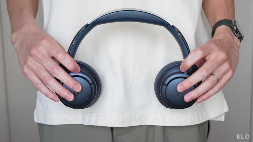 Soundcore Life Q35のアームを広げたところ