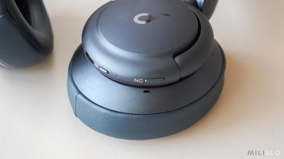 Soundcore Life Q35のノイズキャンセリングボタン