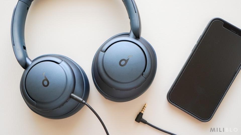 Soundcore Life Q35とマイク付きの有線ケーブル